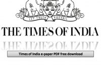 times of india e-paper